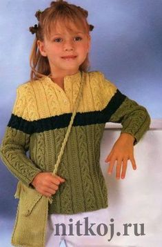 Children's sweater spokes\' the Thread - knitted things for your house, knitting by a hook, knitting by spokes, schemes of knitting Baby Knitting Patterns, Knitting Baby Girl, Lace Knitting Stitches, Knitting For Kids, Free Knitting, Crochet Baby, Knit Crochet, Knit Baby Sweaters, Paper Flower Tutorial