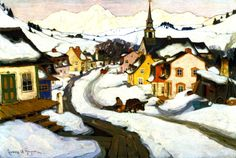 """Village in the Laurentian Mountains"""