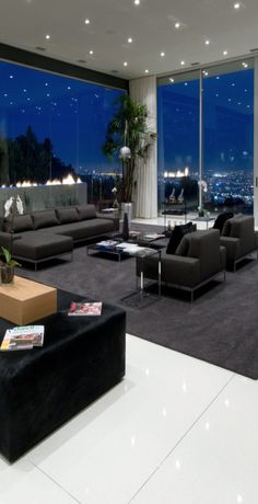 Contemporary living room Penthouse