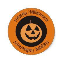 Happy Halloween Funny Pumpkin Custom Stickers
