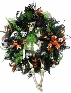 XL Halloween Skeleton Wreath