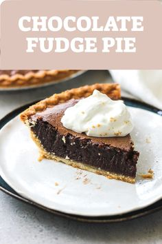 Easy old fashioned chocolate pie with cocoa that taste like fudge. Homemade delicious dessert with southern accent! try it on thanksgiving too Chocolate fudge pie recipe BerryMaple Homemade Chocolate Pie, Chocolate Fudge Pie, Best Chocolate Desserts, Chocolate Pie Recipes, Köstliche Desserts, Dessert Recipes, Fudge Pie Recipe With Cocoa, Easy Fudge Pie Recipe, Homemade Pies