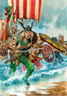 Viking raiders encampment, England   Viking War Art   Pinterest ...