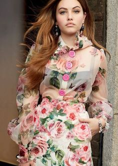 NEw 2018 Summer Womens Runway Fashion Party Printing Formal Dresses Skirts# Fashion Line, Runway Fashion, Womens Fashion, Fashion Trends, Floral Fashion, Fashion Dresses, Fashion Design, Skirt Pattern Free, Cooler Look