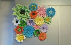Garden on the wall Paper Flower Wall, Paper Flowers, Garden, Jewelry, Garten, Jewlery, Jewerly, Lawn And Garden, Schmuck