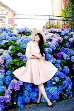 The Cherry Blossom Girl - Les Fleurs hortensia 08