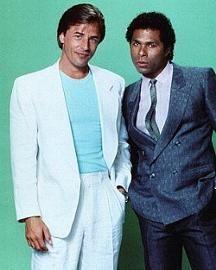 Men's 80s Fashion - Don Johnson's white suit in Miami Vice