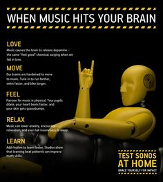 Fantastic reasons to make music an integral part of your classroom practice. Your brain on music: A few benefits of all the music on Earth. Music And The Brain, Your Brain, Music Hits, Sound Of Music, Music Music, Elementary Music, Elementary Schools, Music Therapy, Teaching Music