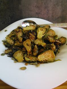 Mom Knows Best : Maple-Roasted Brussels Sprouts With Pumpkin Seeds
