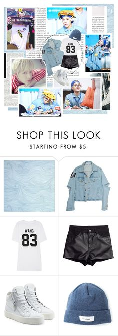 """""""You, Just Being You"""" by creamynoir ❤ liked on Polyvore featuring LPD NEW YORK, H&M, Giuseppe Zanotti, Soulland, kpop, Jackson, wang and GOT7"""