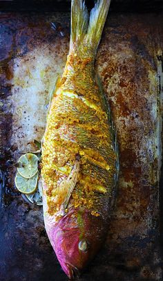 Turmeric-roasted red snapper