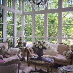 We could spend all day relaxing in this cozy sunroom on today's location …
