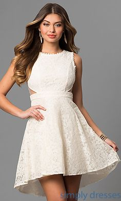 DC-44832 - Short Holiday Party Dress with Embroidered Lace | Cheap ...