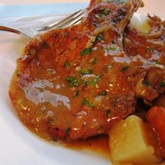 Smothered Pork Chops - Delicious one-pot meal.