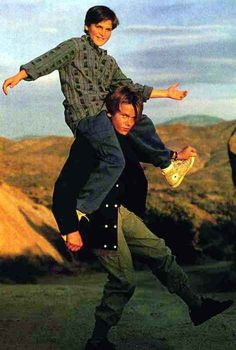 Brothers Joaquin and River Phoenix