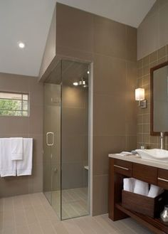 Bathroom Sloped Ceiling Design Ideas, Pictures, Remodel, and Decor - page 3...I think our coves are too low to do this.