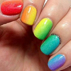 rainbow nails!! love em