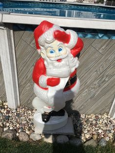 Union Santa Claus Blow Mold with Christmas List-45"