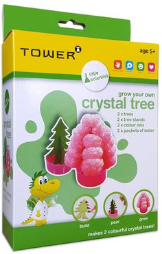 Test your patience and perseverance by growing your own crystal trees! Grow Your Own Crystals, Office Organisation, Crystal Tree, Patience, Tower, How To Make, Kids, Work Office Organization, Toddlers