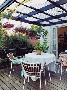Outdoor Greenhouse, Rooftop Terrace, Outdoor Living, Outdoor Decor, Allotment, Greenhouses, Garden Inspiration, Tiny House, Backyard