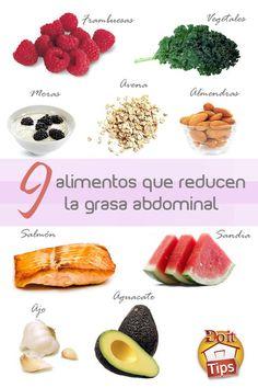 9 alimentos que reducen la grasa abdominal  #Dieta #BajardePeso #saludable