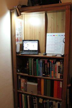 Standing Desk made from a bookshelf
