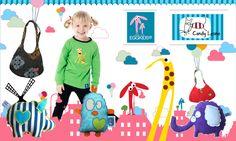 Création d'un visuel pour couffin privé de la vente Candy lesne & Egg Kids