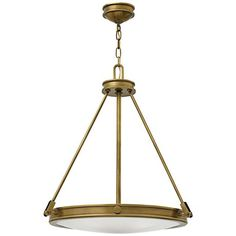 "Hinkley Collier 21 1/2"" Wide Heritage Brass 4-Light Pendant"