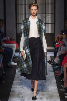 Schiaparelli Fall 2015 Couture Runway :: Pendleton blanket long vest ooh la la!