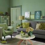 Wiosna wewnętrzach: zielony salon