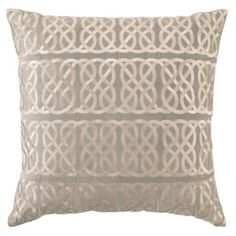 Check out this item at One Kings Lane! Nautical Knot 20x20 Velvet Pillow, Gray