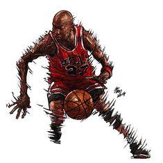 Chicago Bulls legend Michael Jordan moving faster than sonic waves. 44be663d577