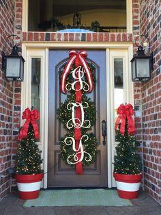 Initial Door Hanger Wooden Letters Door Wreath Door Sign image 1 – My World