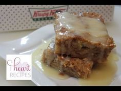 Looking for a new bread pudding recipe? This delicious dessert is made with Krispy Kreme donuts and it's a sweet treat! Serve as a breakfast dish or dessert! I Heart Recipes, My Recipes, Dessert Recipes, Cooking Recipes, Krispy Kreme Bread Pudding, Bread Puddings, Riced Broccoli Recipes, Pudding Recipes, Blueberry Bread