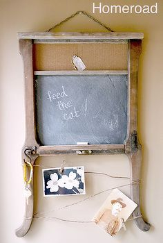 a piece of repurposed antique to make a chalkboard, by Homeroad