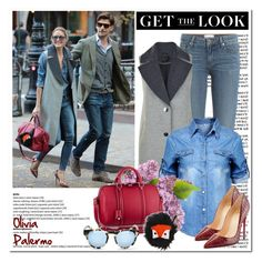 """""""Get the Look: Olivia Palermo"""" by helenevlacho ❤ liked on Polyvore featuring Paige Denim, Gestuz, Louis Vuitton, Christian Louboutin, Fendi, GetTheLook, StreetStyle, OliviaPalermo and CelebrityStyle"""