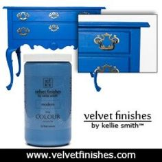 Looking for DIY furniture painting projects? Here are 10 easy DIY furniture projects that anyone can do using Velvet Finishes paint. No sand, no wax! Kitchen Cabinet Colors, Painting Kitchen Cabinets, Kitchen Paint, Kitchen Colors, Diy Kitchen, Glazing Furniture, Paint Furniture, Furniture Makeover, Refinished Furniture