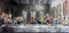 As is traditional for the classroom, a chalk drawing accompanies the curriculum. It was Labor Day weekend prior to the start of my seventh grade school year at Davis Waldorf School when I made up my mind to tackle Leonardo da Vinci's The Last Supper.