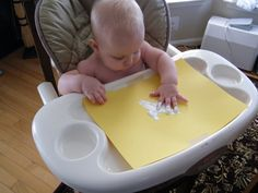 Tips for painting with infants. The Stay-at-Home-Mom Survival Guide: Infant Activities