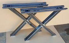 X - Table Legs, Heavy  duty,  Sturdy X - Metal Legs, Industrial Legs, Dining Table  Leg Set