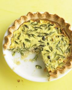 Asparagus, Leek, and Gruyere Quiche