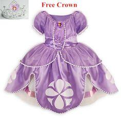 2015 vestido de Princesa sofia vestido de festa traje disfraz princesinha sofia a primeira princesa sofia roupas infantil meninas