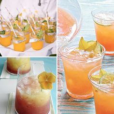 Tropical Cocktails {Hawaii Wedding Inspiration}