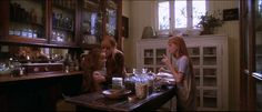 What is it about apothecary jars? Especially those in French!  This is a shot of the butlers pantry in Practical Magic