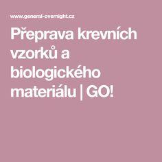 Přeprava krevních vzorků a biologického materiálu | GO!