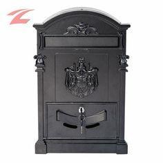 ZNL Abschließbar Draußen Brief Retro Postkasten XBX02 Dunkelgrau