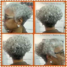 Salt and pepper without the butter! Styled by Charlene  Body and Soul Salon and Spa 6401 Harford Rd. Baltimore, MD. 410.426.8680