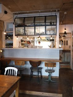 Open Kitchen Restaurant, Bistro Restaurant, Cafe Bistro, Chinese Restaurant, Small Open Kitchens, Small Space Kitchen, Bistro Interior, Cafe Interior, Cool Restaurant Design