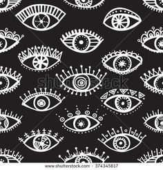 Hand drawn indian ethnic tribal eyes fashion black and white trendy seamless pattern. ethnic, eye, wrapping, zendoodle, cultural, native, national, tribal, ornament, mexican, mystical, vector, line, boho, apache, navajo, graphic, traditional, fashion, maya, authentic, indigenous, fabric, abstract, doodle, illustration, geometric, ornamental, decorative, folkloric, african, texture, indian, trendy, ukrainian, hippie, aztec, background, drawn, seamless, pattern, hand, textile #yuliiabahniuk