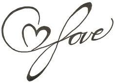 Infinite Love Heart Drawing Original Tattoo by ginabeauvais, $12.00
